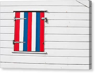 Window Shutter Canvas Print by Tom Gowanlock