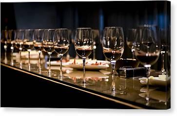 Wine Tasting Canvas Print by Jon Berghoff