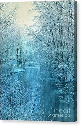 Winter River Canvas Print by Svetlana Sewell