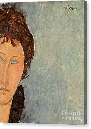 Woman With Blue Eyes Canvas Print by Amedeo Modigliani