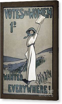 Womens Rights Canvas Print by Granger