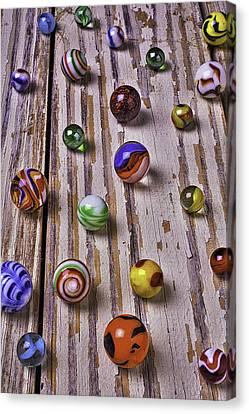 Wonderful Marbles Canvas Print by Garry Gay