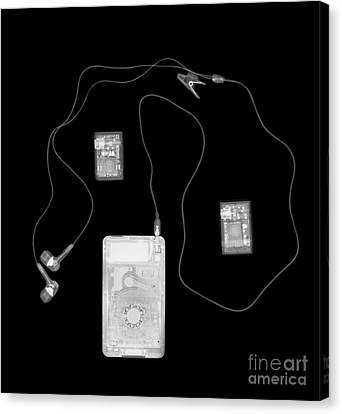 X-ray Of A Portable Audio Player Canvas Print by PhotoStock-Israel