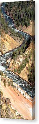 Yellowstone River, Yellowstone National Canvas Print by Panoramic Images