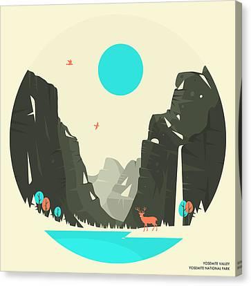 Yosemite National Park Canvas Print by Jazzberry Blue