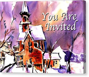 You Are Invited Canvas Print by John Dunn