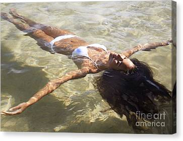 Young Woman In The Water Canvas Print by Brandon Tabiolo - Printscapes