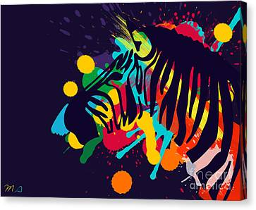 Zebra Canvas Print by Mark Ashkenazi