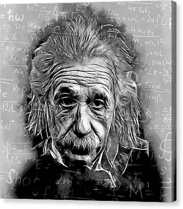 People Changing History Albert Einstein Canvas Print by Marvin Blaine