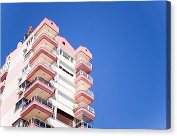 Antalya Buildings Canvas Print by Tom Gowanlock