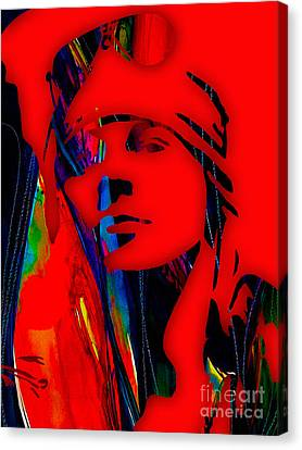 Axl Rose Collection Canvas Print by Marvin Blaine
