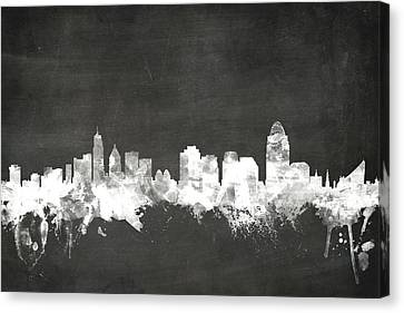 Cincinnati Ohio Skyline Canvas Print by Michael Tompsett