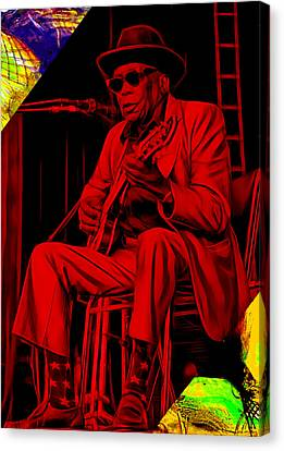 John Lee Hooker Collection Canvas Print by Marvin Blaine