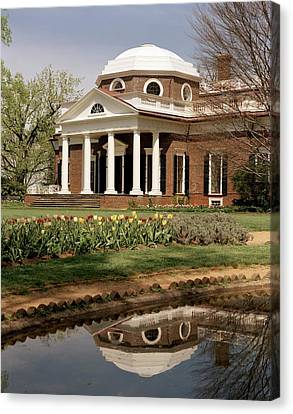 Monticello, The Home Built By Thomas Canvas Print by Everett