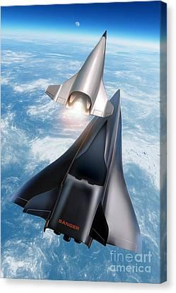 Saenger Horus Spaceplane, Artwork Canvas Print by Detlev van Ravenswaay