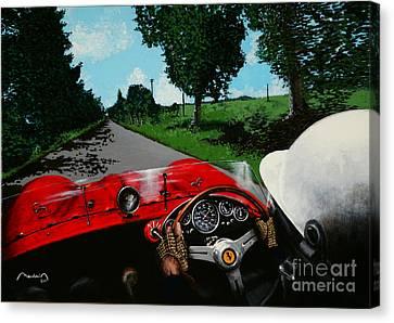 1000 Miles 1956 Canvas Print by Alain Baudouin
