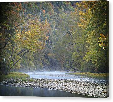 1010-3979 Buffalo River Boxley Valley Fall Canvas Print by Randy Forrester