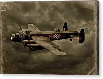 103 Squadron Avro Lancaster Canvas Print by Steven Agius