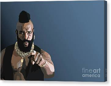 107. Pity The Fool Canvas Print by Tam Hazlewood