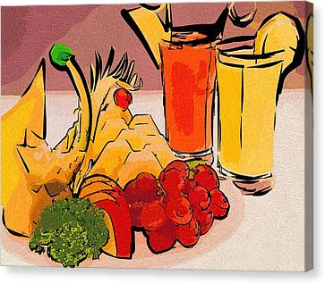 Art Food Picture Canvas Print by Michael Vicin