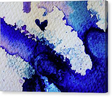 Micro Inkscapes Canvas Print by Samantha Hurrell