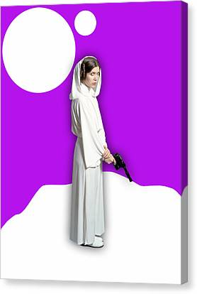 Star Wars Princess Leia Collection Canvas Print by Marvin Blaine