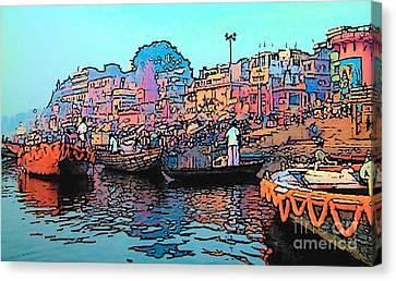 Varanasi Canvas Print by Lisa Dunn