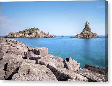 Aci Trezza - Sicily Canvas Print by Joana Kruse