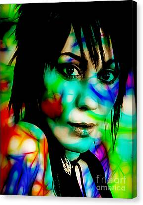 Joan Jett Collection Canvas Print by Marvin Blaine