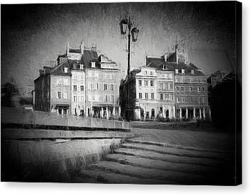 Old Town In Warsaw Canvas Print by Artur Bogacki