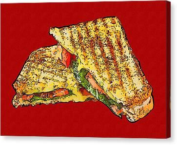 Sandwich Canvas Print by Michael Vicin