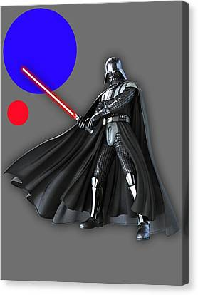 Star War Darth Vader Collection Canvas Print by Marvin Blaine