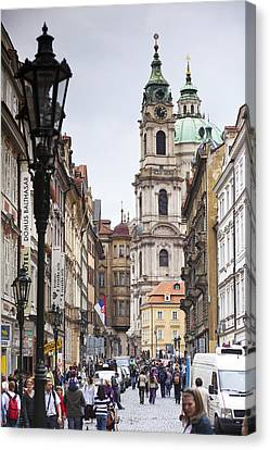 Streets Of Prague Canvas Print by Andre Goncalves