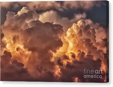 Thunderhead At Sunset Canvas Print by Thomas R Fletcher