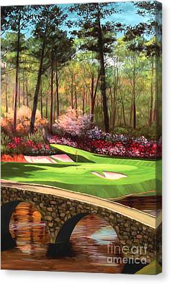 12th Hole At Augusta Ver Canvas Print by Tim Gilliland