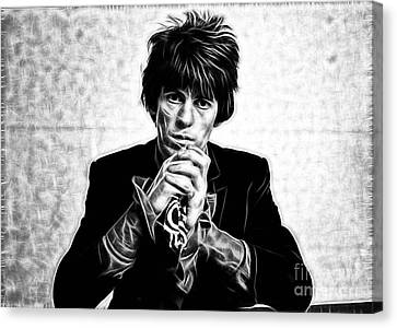 Keith Richards Collection Canvas Print by Marvin Blaine