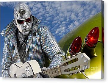 Silver Elvis Canvas Print by Oleksiy Maksymenko
