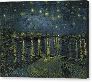 Starry Night Canvas Print by Van Gogh