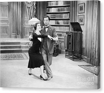 Silent Film Still: Dancing Canvas Print by Granger