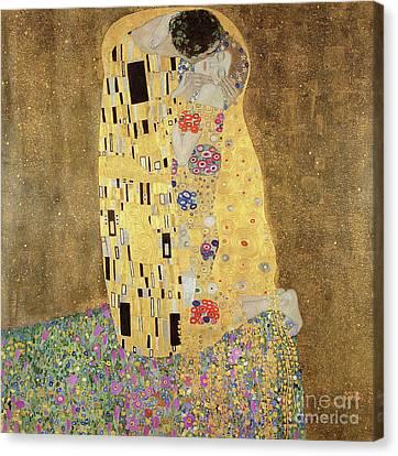 The Kiss Canvas Print by Gustav Klimt