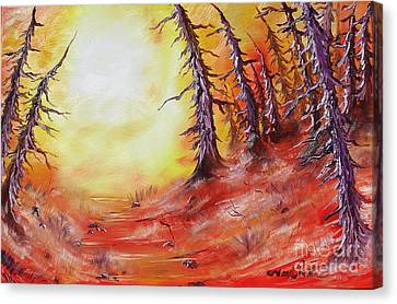 16 Trees Canvas Print by Joseph Palotas