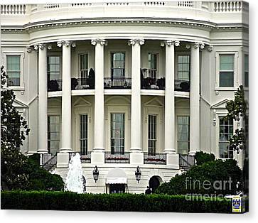 1600 Pennsylvania Avenue Canvas Print by Casavecchia Photo Art