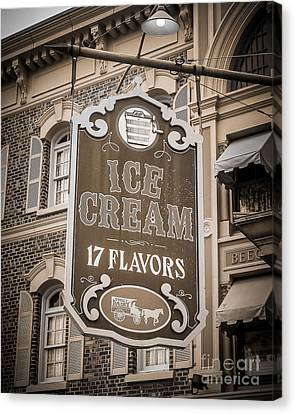 17 Flavors Canvas Print by Perry Webster