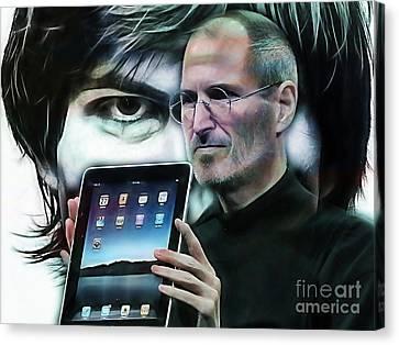 Steve Jobs Collection Canvas Print by Marvin Blaine