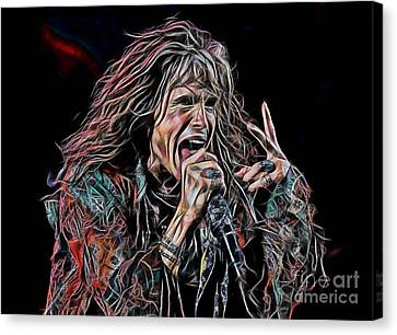 Steven Tyler Collection Canvas Print by Marvin Blaine