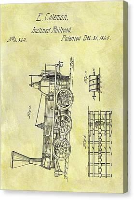 1845 Locomotive Patent Canvas Print by Dan Sproul