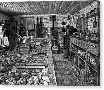 1860's Ore Assay Office Shop - Montana Canvas Print by Daniel Hagerman