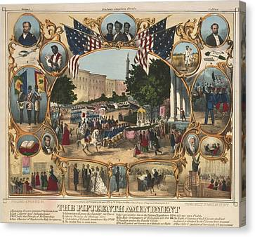 1870 Print Illustrating The Rights Canvas Print by Everett