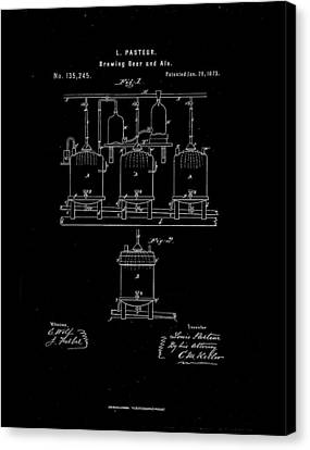 1873 Louis Pasteur Beer Brewing Patent Drawing Canvas Print by Steve Kearns
