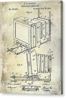 1883 Camera Patent Canvas Print by Jon Neidert